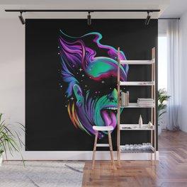Techno Galaxy Art, Flint, Star, Cosmic, Interior, Wall art, Art Print, Trendy decor, Pillow Wall Mural