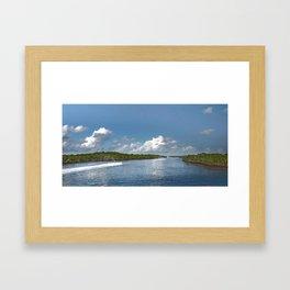 Jet Skiing Framed Art Print