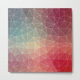Abstract Geometric Triangulated Design Metal Print