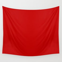 Cherry Red Solid Color Wall Tapestry