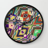 diamonds Wall Clocks featuring Diamonds by Steve W Schwartz Art