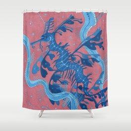 Leafy Sea Dragon Seahorse Shower Curtain