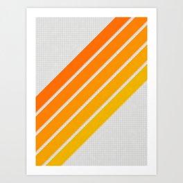 Orange Color Drift Art Print