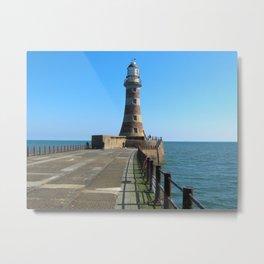 Roker Lighthousem, Sunderland uk Metal Print