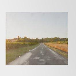 Driving in Bordeaux Throw Blanket