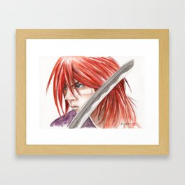 kenshin himura Framed Art Print