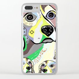 Beagle and Babies Soft Color Palette Clear iPhone Case
