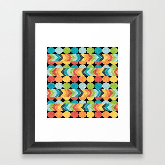 Retro Color Play Framed Art Print