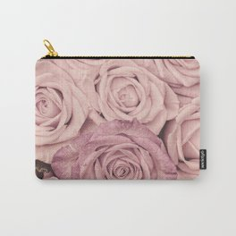 Some People Grumble - Pink Rose Pattern - Roses Garden Carry-All Pouch
