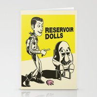 reservoir dogs Stationery Cards featuring reservoir dolls  by tshirtsz