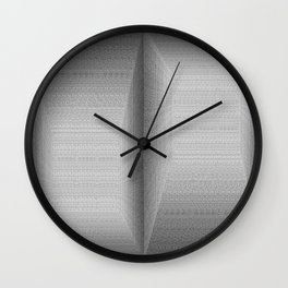 Binary Rooms Wall Clock
