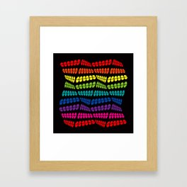 Happy Stucture Framed Art Print