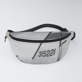 Flight Airplane Abstract Black and White Print Fanny Pack