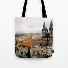 Prague CZ street view Tote Bag