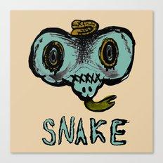 snake mask Canvas Print