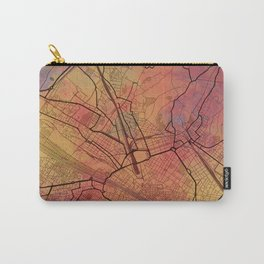 Florence Italy Street Map Art Watercolor Magma Eruption Carry-All Pouch