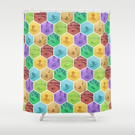 The Resource Conquest - 3D Shower Curtain