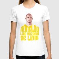 ronaldo T-shirts featuring Ronaldo Name Yellow by Sport_Designs