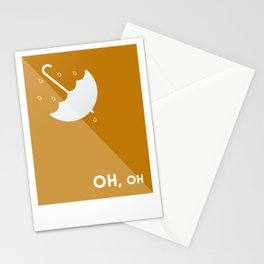 OH, oh - Umbrella Stationery Cards