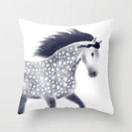 Dapple horse Throw Pillow