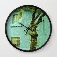 colombia Wall Clocks featuring COLOMBIA BOGOTA TYPICAL HOUSE by Alejandra Triana Muñoz (Alejandra Sweet