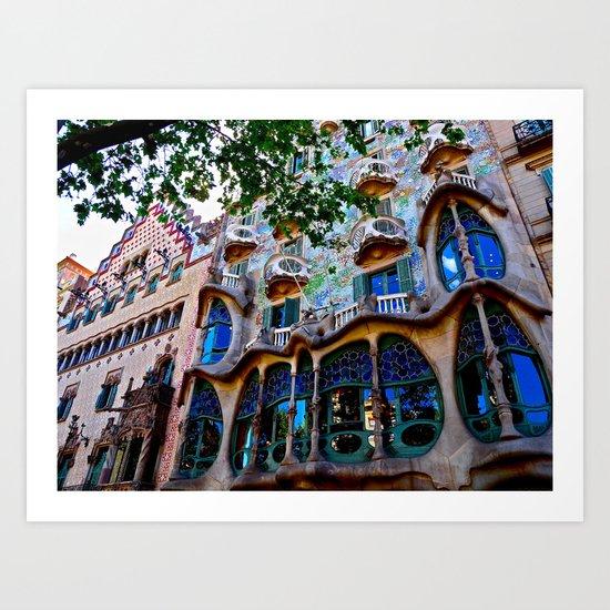 Casa Batllo: Barcelona, Spain Art Print