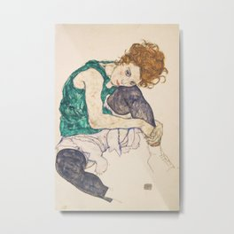 Egon Schiele - Seated Woman with Legs Drawn Up Metal Print