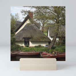 Constable Thatched Bridge Cottage, Flatford Mini Art Print
