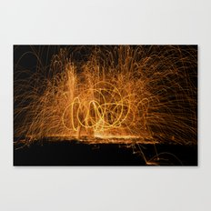 Home made fireworks Canvas Print