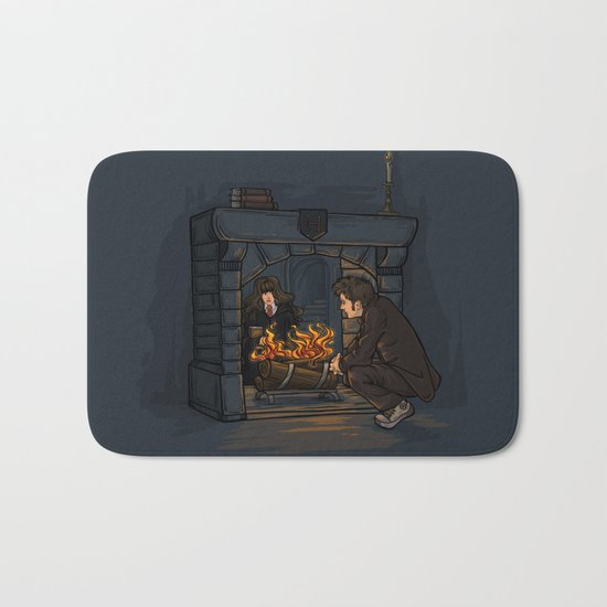 The Witch in the Fireplace Bath Mat