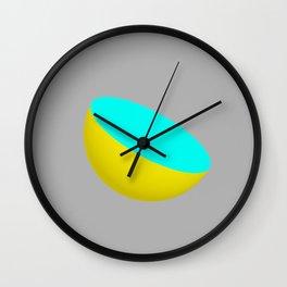 Blue Lemon Wall Clock