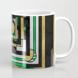 Tapestry: Emerald & Gold - Art Deco Drawing Coffee Mug
