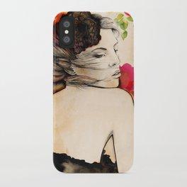 Lucy in flower fields iPhone Case