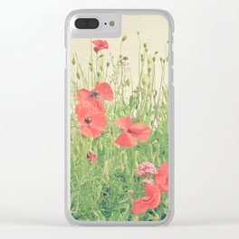Sea of Red Clear iPhone Case