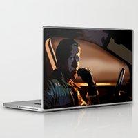 ryan gosling Laptop & iPad Skins featuring DRIVE- RYAN GOSLING by MATT WARING