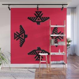 Animikii Thunderbird doodem on red - HQ image Wall Mural