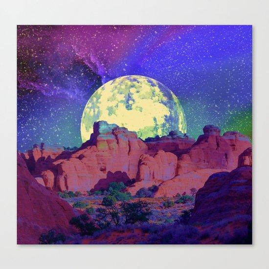 night desert landscape Canvas Print