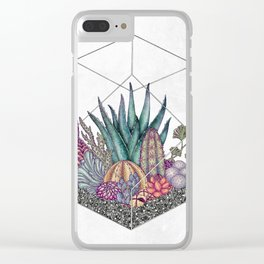 Love cacti Clear iPhone Case