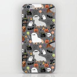 Dachshund dog breed halloween cute pattern doxie dachsie dog costumes iPhone Skin