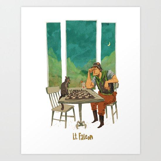 Lt. Falcon Art Print