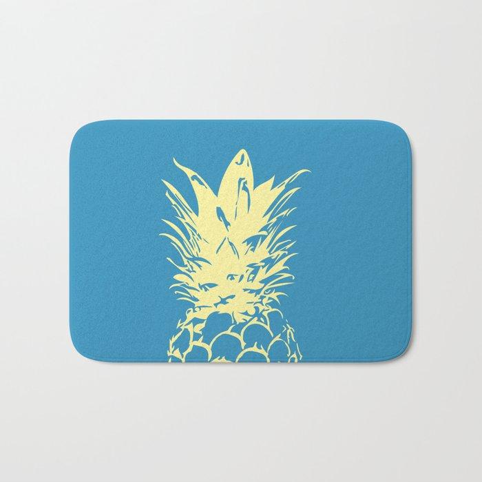 Unique Yellow Pineapple Design Bath Mat