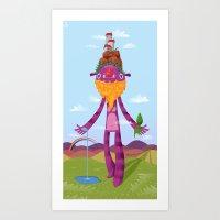 Art Print featuring gaia by Azbeen