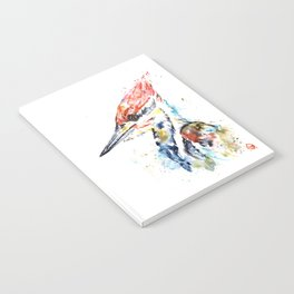 Woodpecker Colorful Watercolor Bird Painting Notebook