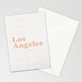 Los Angeles Type - Pink Stationery Cards