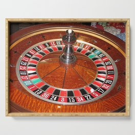 Roulette wheel casino gaming design Serving Tray