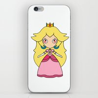 peach iPhone & iPod Skins featuring peach by guizmo04