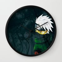 kakashi Wall Clocks featuring Great Talent by BradixArt