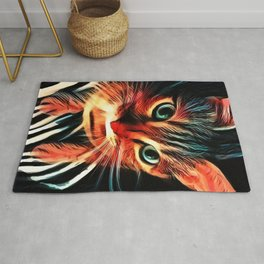 Cheshire Stripes Cat Rug