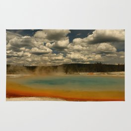 Sunset Lake Under A Cloudy Sky Rug
