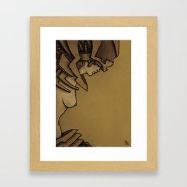 Steampunk Girl A Framed Art Print